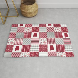 Alabama university crimson tide quilt pattern college sports alumni gifts Rug