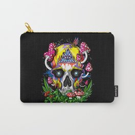 Magic Mushrooms Psychedelic Skull Carry-All Pouch