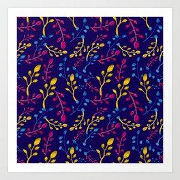 Cute and Colourful Leaf Print Art Print