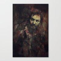 daryl dixon Canvas Prints featuring Daryl Dixon by Sirenphotos