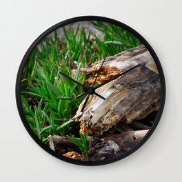 Beach Wood Wall Clock