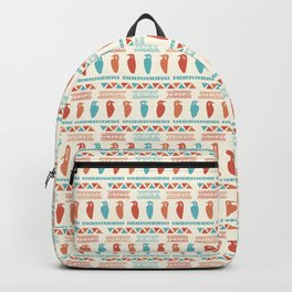 Hand Drawn Ancient Greek Bird Pattern Backpack