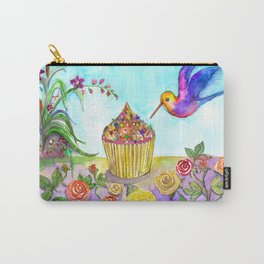 Cupcake and bird in my wonderland Carry-All Pouch