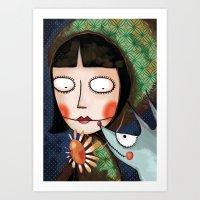 Art Print featuring Petite fleur by Soloka