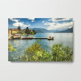 Varenna Harbor View, Lake Como. Italy Metal Print