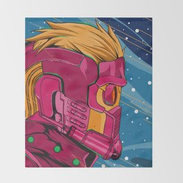 Starlord Guardians of the galaxy Throw Blanket