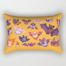 Bat - yellow Rectangular Pillow