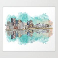 Pittsburgh Sunset Art Print