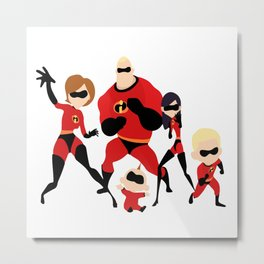 The incredibles Metal Print