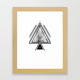 Wiccan Fire Element Symbol Pagan Witchcraft Triangle Framed Art Print