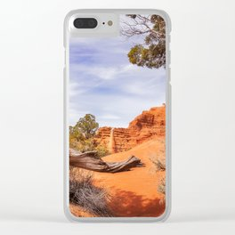 Unique desert beauty at Kodachrome Park in Utah Clear iPhone Case