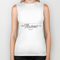 illusion Biker Tanks featuring Illusion by Holly Ent
