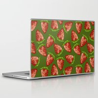 strawberry Laptop & iPad Skins featuring Strawberry by Julia Badeeva