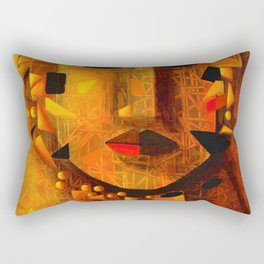 Indigenous Inca Tribal Sapa Inca, Son of the Sun portrait painting by Ortega Maila Rectangular Pillow