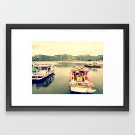 Boat - Paraty Framed Art Print