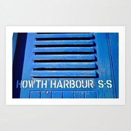 Howth Harbour Shutter Art Print
