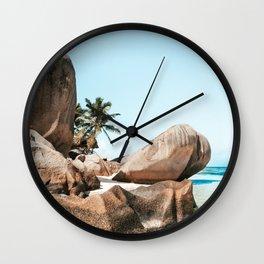 The Paradise - La Digue Island, Seychelles Wall Clock