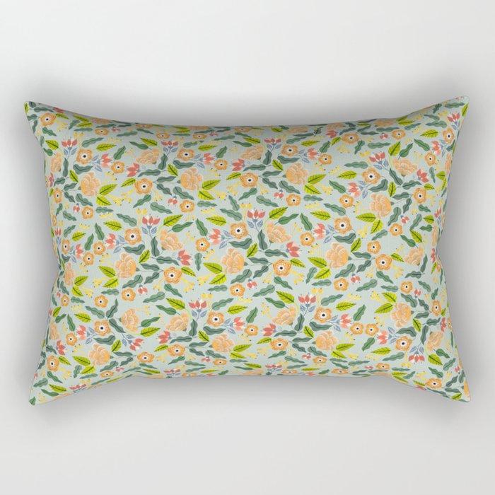 Happiest Flowers Rectangular Pillow
