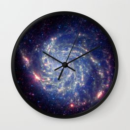 771. Spitzer Space Telescope View of Galaxy Messier 101 Wall Clock