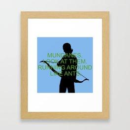 Alec Lightwood - Mundanes Framed Art Print