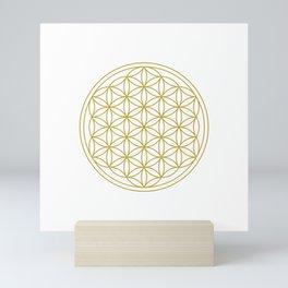 Flower of Life Gold Mini Art Print