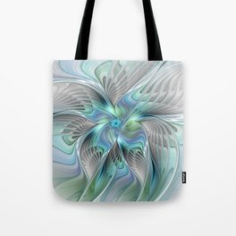 Abstract Butterfly, Fantasy Fractal Art Tote Bag