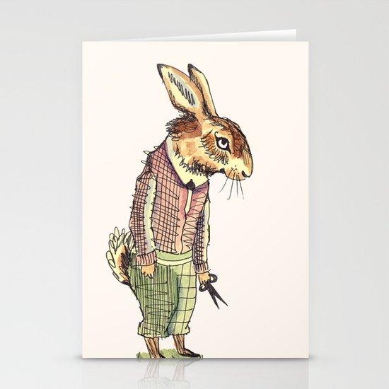 Rabbits Garden Stationery Cards