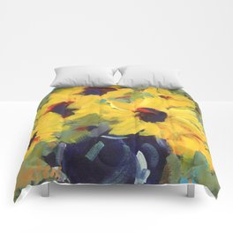 Sage and Sunflowers Comforters