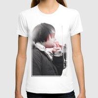 smoking T-shirts featuring Smoking by Michael Larkin