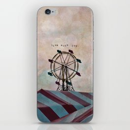Live With Joy iPhone Skin