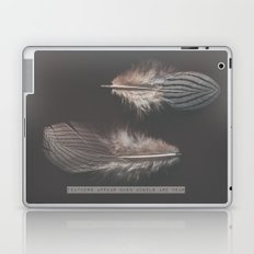 feathers appear when angels are near Laptop & iPad Skin