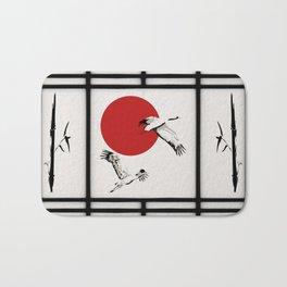 Shoji - flying cranes Bath Mat