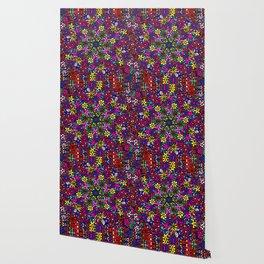 Flower Power Doodle Art Wallpaper