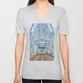 Lift Bridge Unisex V-Neck