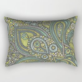 Blue Safari Rectangular Pillow