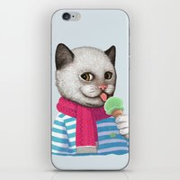 ice cream iPhone & iPod Skins featuring Ice cream by Tummeow