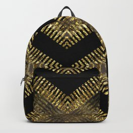 Black Gold | Tribal Geometric Backpack