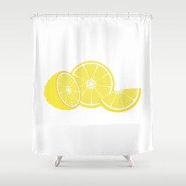 slice of lemon Shower Curtain