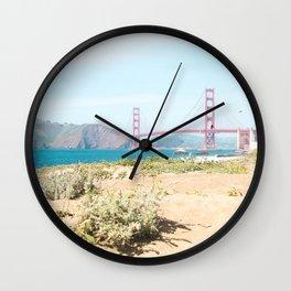 Golden Gate Bridge Beach Wall Clock