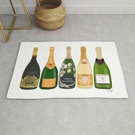 Champagne Bottles Rug