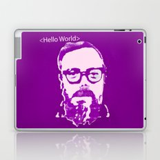 Hello World - This is a portrait of Dennis Ritchie  Laptop & iPad Skin