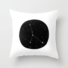 Cancer zodiac constellation star chart night sky star signs Throw Pillow