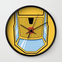 transformers Wall Clocks featuring Transformers - Sunstreaker by CaptainLaserBeam