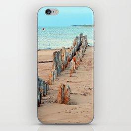 Wharf Remains on the Beach iPhone Skin
