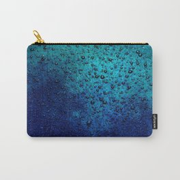 Sea Green Blue Texture Carry-All Pouch
