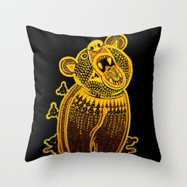Benevolent Bears Throw Pillow