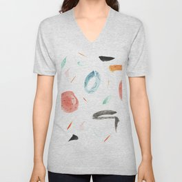 Human lottery Abstract Colourful Pattern Unisex V-Neck