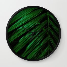 Green is the new black foliage photograhy no 4 Wall Clock