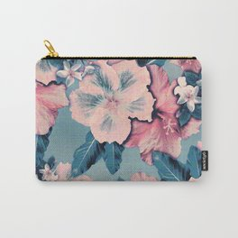 Vintage Nui Loa Hibiscus Carry-All Pouch
