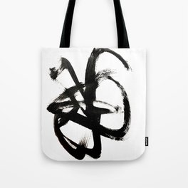 Brushstroke 4 - a simple black and white ink design Tote Bag